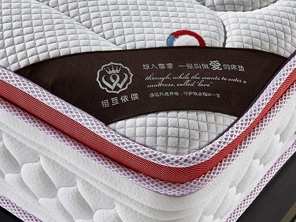 九区独立弹簧床垫 高密度海绵席梦思床垫软硬适中1.8m1.5米床垫YH9012