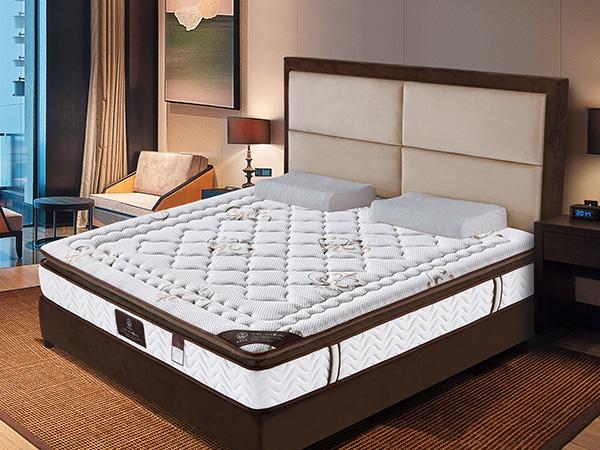 雨辉床垫 乳胶精钢弹簧席梦思1.5米 高弹乳胶床垫1.8m民用床垫YH9019