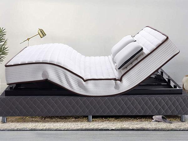 雨辉双人多功能电动床遥控智能护脊床垫可升降床乳胶床垫YH9026