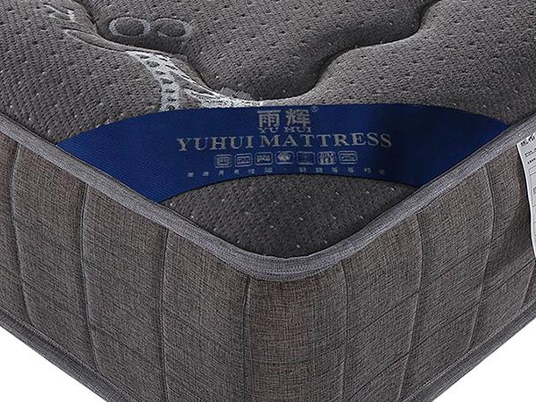雨辉床垫环保棉护脊独立筒弹簧床垫1.5席梦思竹炭床垫1.8米YH9006床垫