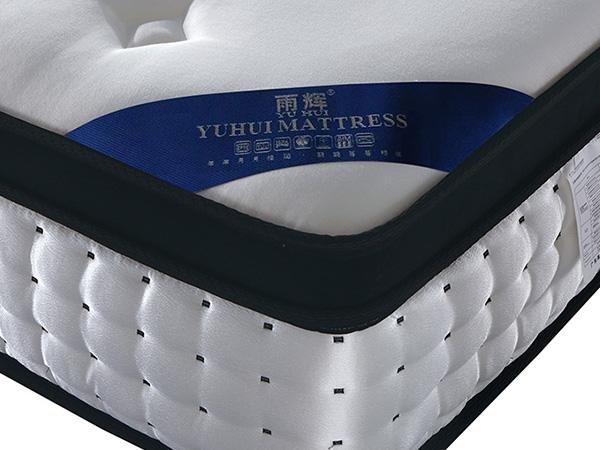 雨辉床垫防螨纯棉刺绣面料床垫独立筒弹簧床垫3cm天然乳胶床垫 YH9008