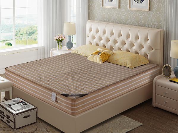 雨辉4D双面网孔可直接冲洗床垫金色精钢弹簧床垫1.8m3D透气床垫YH9003