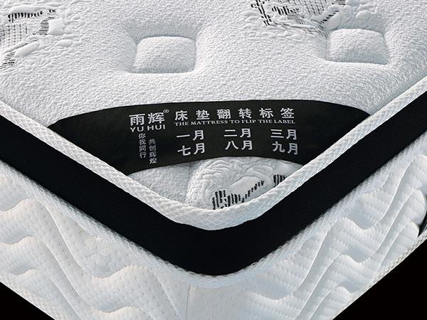 高回弹海棉防螨床垫出口耐压耐磨精钢弹簧床垫1.8米1.5酒店床垫YH8019